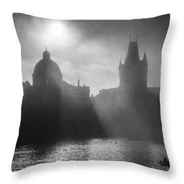 Charles Bridge Towers, Prague, Czech Republic Throw Pillow