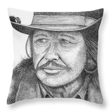 Charles Bronson Throw Pillow by Lawrence Tripoli