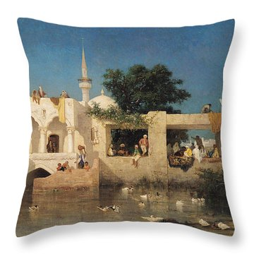Charles Emile De Tournemine Throw Pillow by Cafe in Adalia