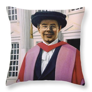 Charles Harpum Receiving Doctorate Of Law Throw Pillow by Richard Harpum