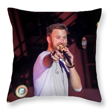 Charles Kelley Throw Pillow