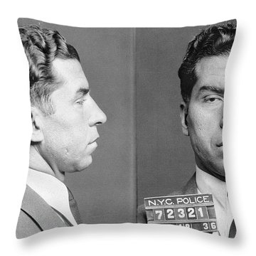 Charles Lucky Luciano Throw Pillow