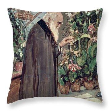 Charles Robert Darwin Throw Pillow by John Collier