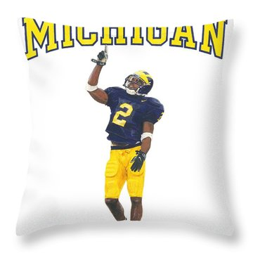Charles Woodson Throw Pillow