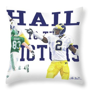 Charles Woodson - The Pick Throw Pillow