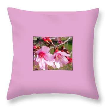 Charleston Azalea Throw Pillow