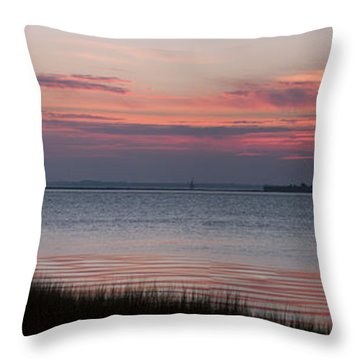 Charleston Bay Throw Pillow by Allen Carroll