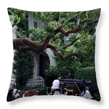 Charleston Buggy Ride Throw Pillow by Skip Willits