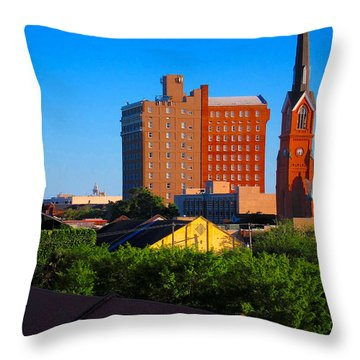 Charleston Buildings Throw Pillow