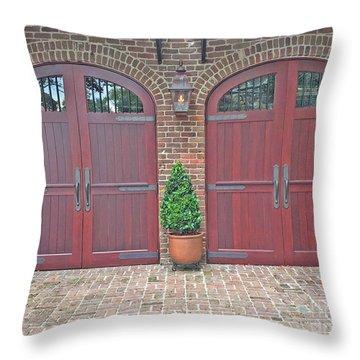 Charleston Doors Throw Pillow