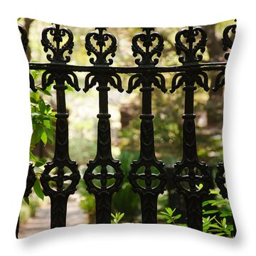 Charleston Fence Throw Pillow