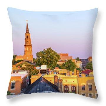 Charleston Glows Throw Pillow