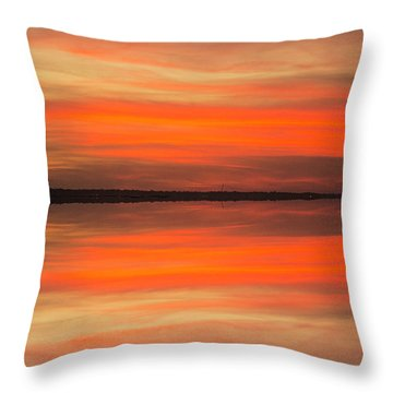 Throw Pillow featuring the photograph Charleston Harbor Sunset 05 by Jim Dollar