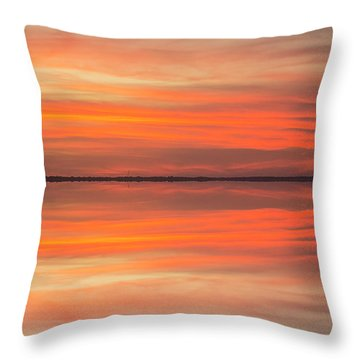 Throw Pillow featuring the photograph Charleston Harbor Sunset 2017 11 by Jim Dollar