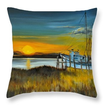 Charleston Low Country Throw Pillow by Lindsay Frost