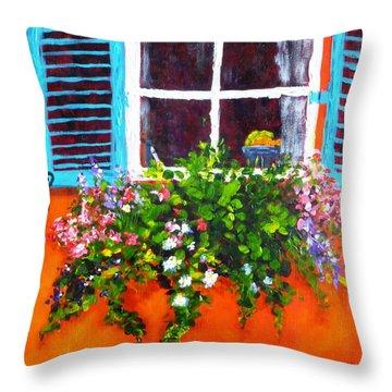 Charleston Morning Throw Pillow by Diane Arlitt