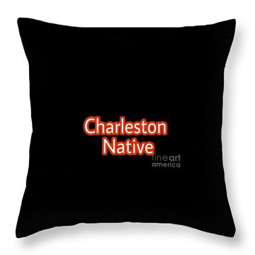 Charleston Native Text 2 Throw Pillow