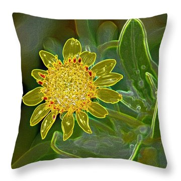 Charleston Neon Floral Throw Pillow