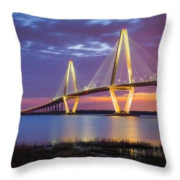 Charleston Sc Arthur Ravenel Jr Bridge Throw Pillow