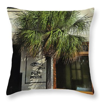 Charleston Sidewalk Invitation Throw Pillow