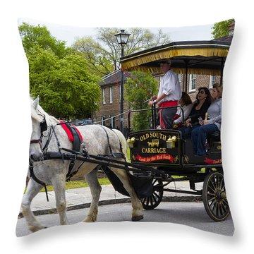 Charleston Tour Throw Pillow by Patricia Schaefer