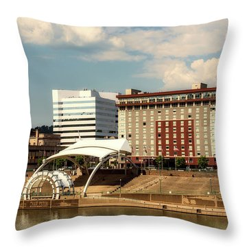 Charleston West Virginia Throw Pillow by L O C