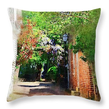 Throw Pillow featuring the photograph Charlestons Alley by Donna Bentley