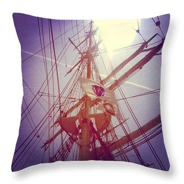 A Voyage Home Throw Pillow