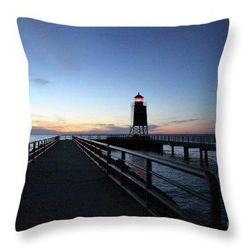 Charlevoix Light Tower Throw Pillow