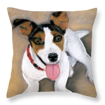 Throw Pillow featuring the pastel Charley by Jan Amiss