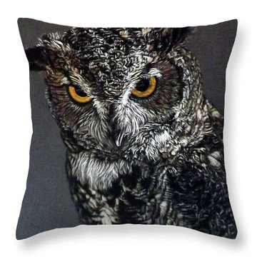 Charley Throw Pillow by Linda Becker