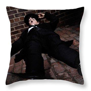 Charlie Chaplin Throw Pillow by Oleksiy Maksymenko