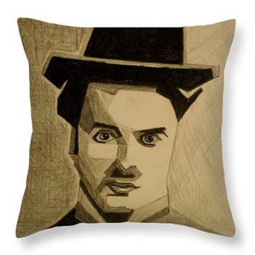 Charlie Chapplin Throw Pillow