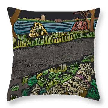 Charlie On Path Throw Pillow by Kevin McLaughlin