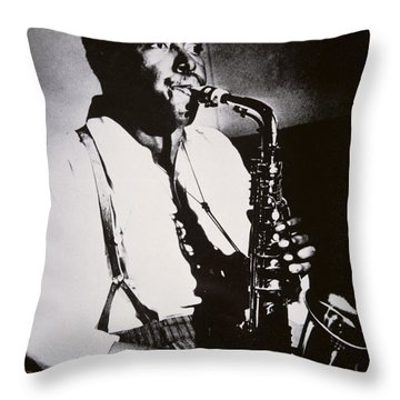 Charlie Parker Throw Pillow