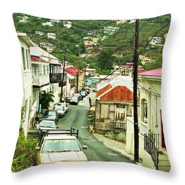 Charlotte Amalie Neighborhood Throw Pillow