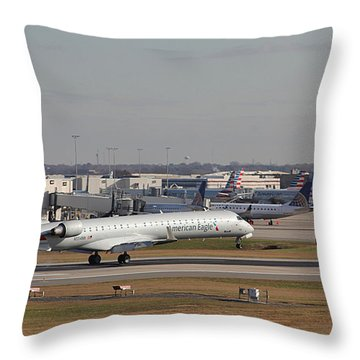 Charlotte Douglas International Airport 20 Throw Pillow