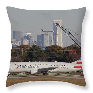 Charlotte Douglas International Airport 22 Throw Pillow