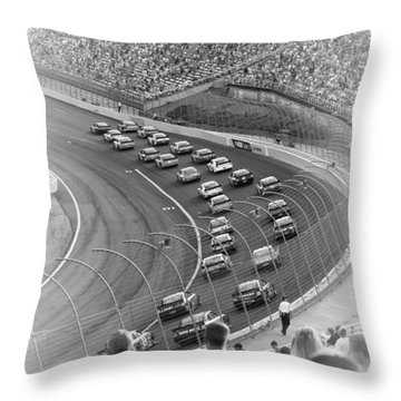 A Day At The Racetrack Throw Pillow