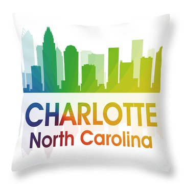 Charlotte Nc Throw Pillow by Angelina Vick