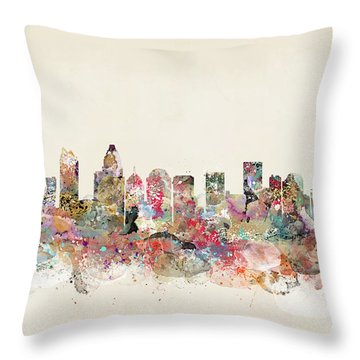 Charlotte North Carolina Throw Pillow