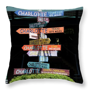 Charlotte Signs Throw Pillow