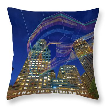 Charlotte Web Throw Pillow