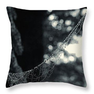 Throw Pillow featuring the photograph Charlotte's Necklace by Daniel George