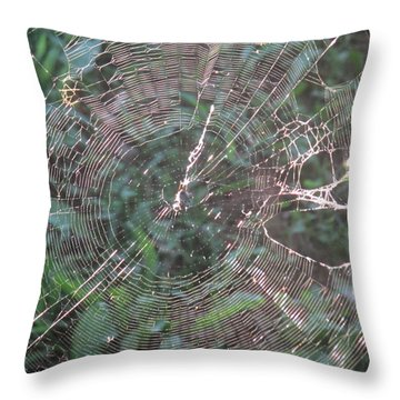 Charlotte's Web Throw Pillow by Charlotte Gray