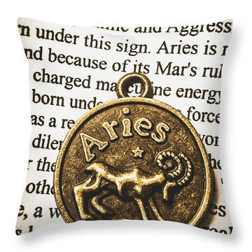 Charm Of Aries Throw Pillow