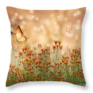 Charmed Blossoms Throw Pillow