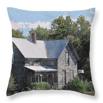 Charming Country Home Throw Pillow by Liane Wright