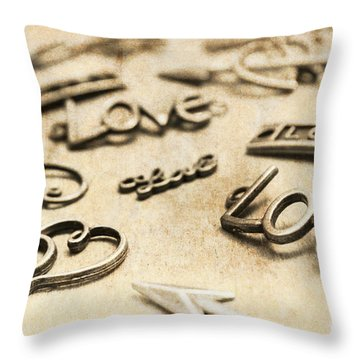 Charming Old Fashion Love Throw Pillow
