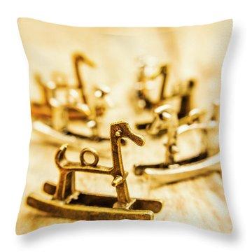 Charming Rocking Horse Pendants Throw Pillow